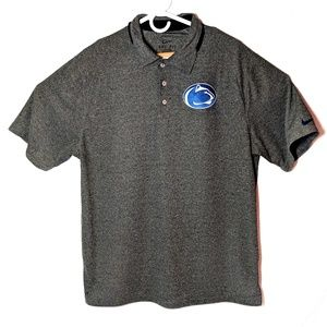 Mens Penn State Nike Dri Fit Polo Shirt sz Large
